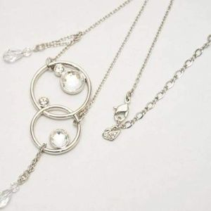 Swarovski circles and beads necklace #869822